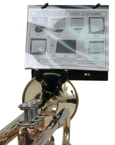 Clip on lyre for brass instruments