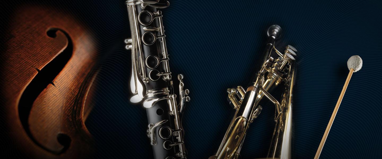 violin, clarinet, trumpet rentals